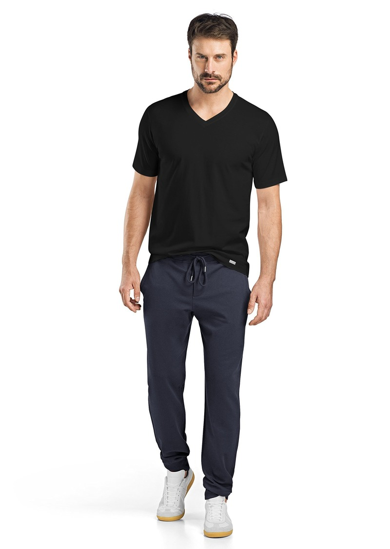 HANRO Men's Living Short Sleeve V-Neck Shirt