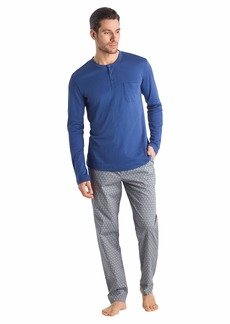 HANRO Men's Loran Long Sleeve Henley Shirt