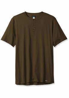 HANRO Men's Night & Day Short Sleeve Henley Shirt