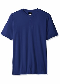 HANRO Men's Night and Day Short Sleeve Henley Shirt