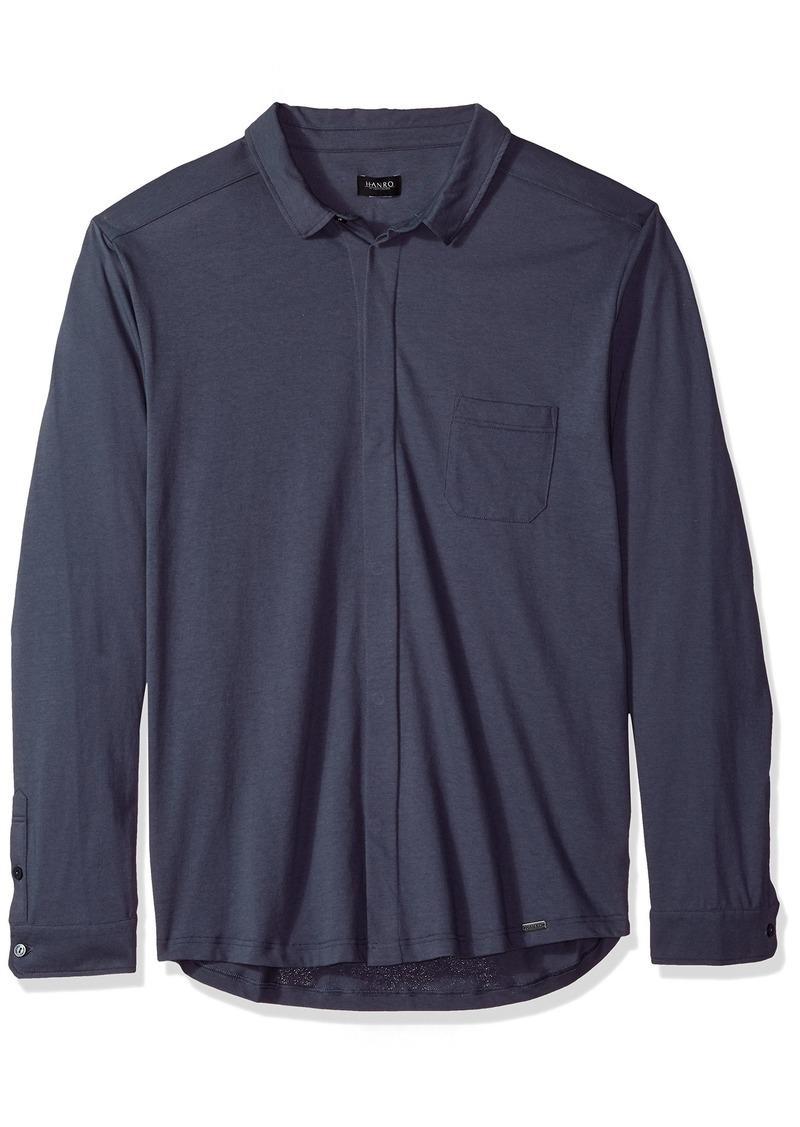 HANRO Men's River Long Sleeve Button Front Shirt
