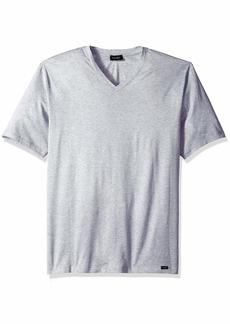 HANRO Men's Sporty Short Sleeve V-Neck Shirt