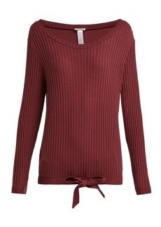 Hanro Minna ribbed cotton-blend pyjama top