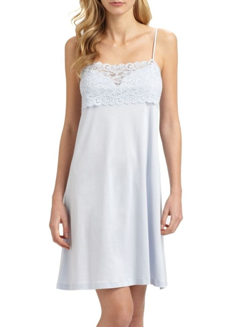 Hanro Moments Lace and Cotton Chemise