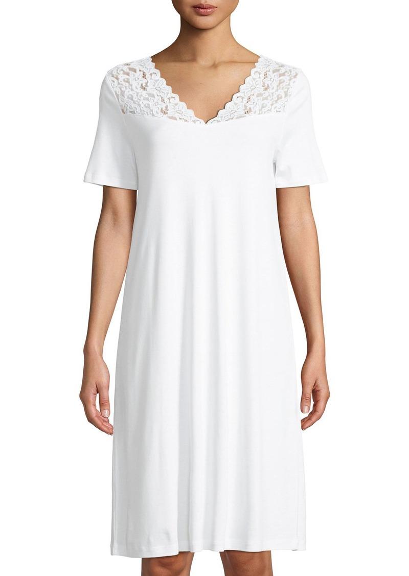 Hanro Moments Short Sleeve Nightgown