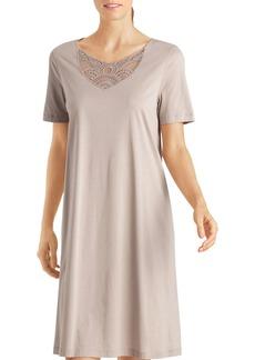 Hanro Moya Short-Sleeve Gown