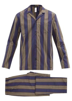 Hanro Night and Day striped cotton-poplin pyjamas