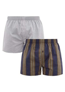 Hanro Pack of two cotton-poplin boxer shorts