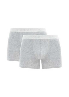 Hanro Pack of two Essentials cotton-blend boxer briefs