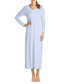Hanro Pure Essence Long-Sleeve Gown