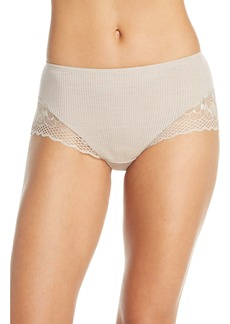Hanro Rubina Lace Trim Wool & Silk Briefs