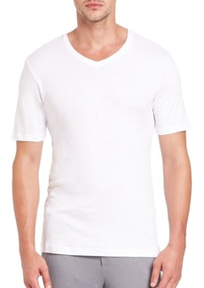 Hanro Sea Island Cotton V-Neck Tee