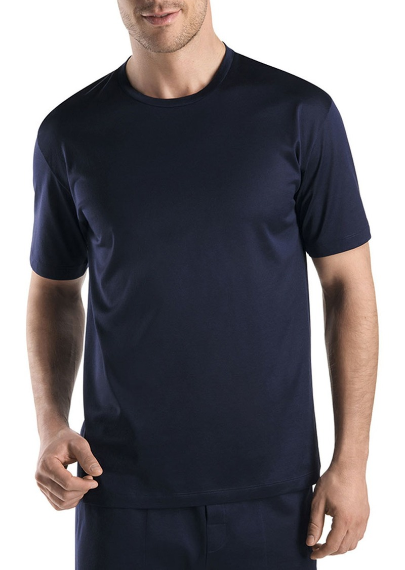 Hanro Men's Cotton Sporty Crewneck T-Shirt