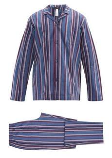Hanro Striped cotton-blend pyjamas