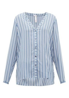 Hanro Striped poplin pyjama top