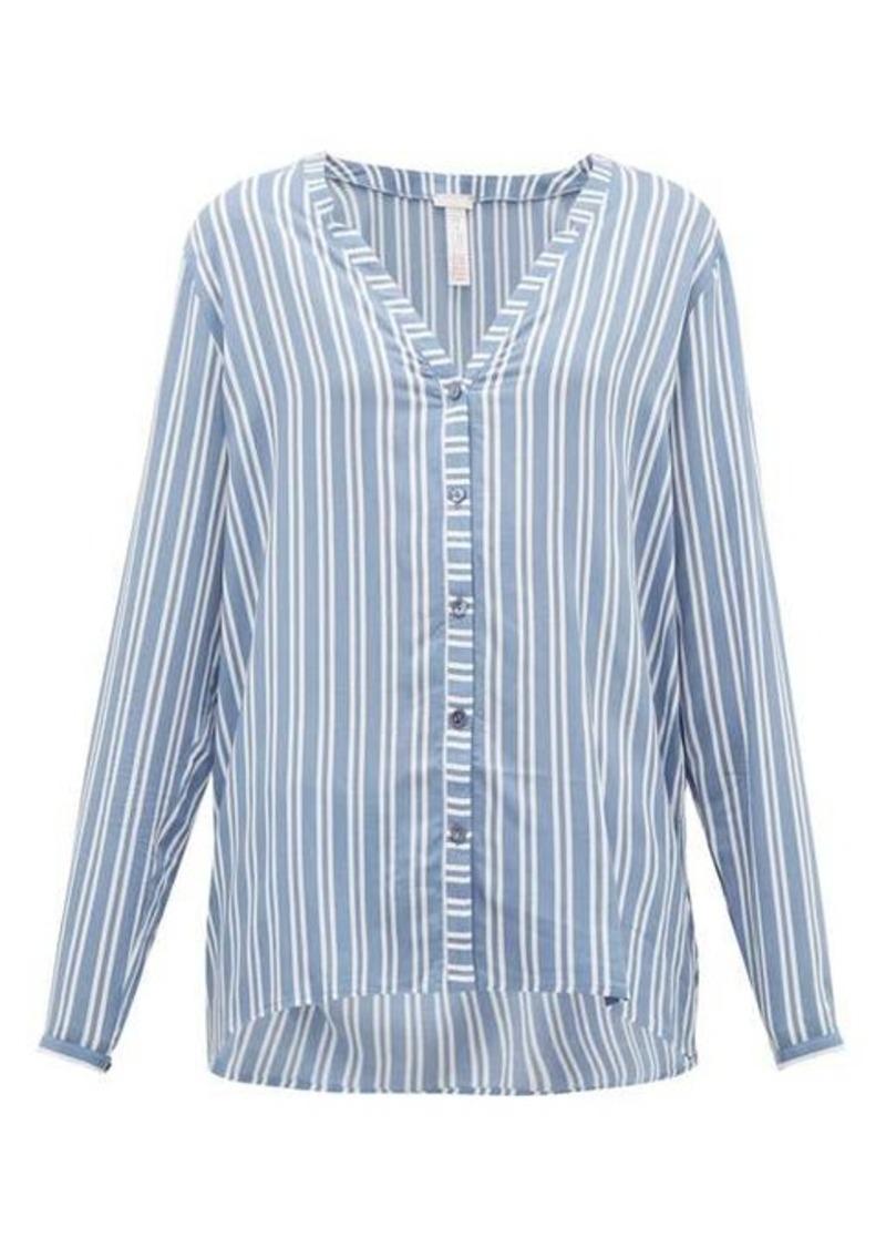 Hanro Striped poplin pyjama top