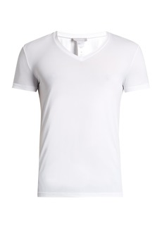Hanro V-neck micro-touch jersey T-shirt