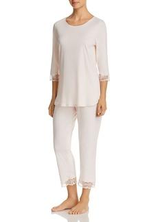 Hanro Valencia Cropped Pajama Set