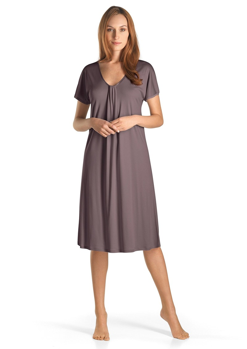 HANRO Women's Astrid Short Sleeve Gown
