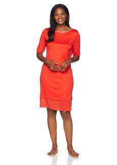 HANRO Women's Ayana Short Sleeve Gown Orange/red