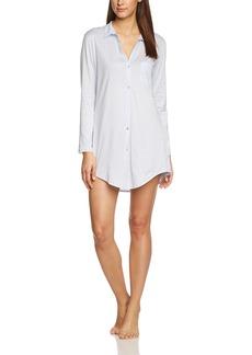 HANRO Women's Cotton Deluxe Boyfriend Sleep Shirt