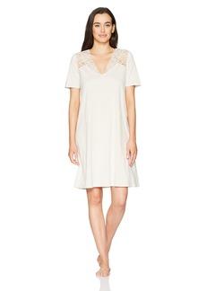 Hanro Women's Daphne Short Sleeve Gown