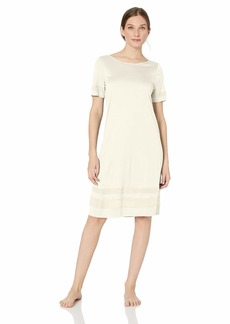 HANRO Women's Enna Short Sleeve Gown Off