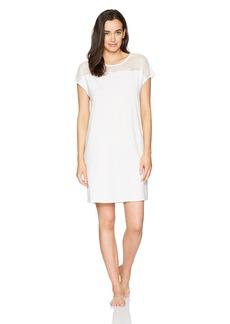 Hanro Women's Greta Short Sleeve Gown