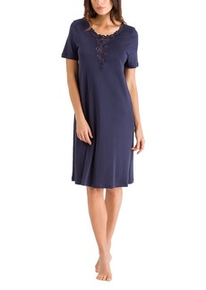 HANRO Women's Jasmin Short Sleeve Gown