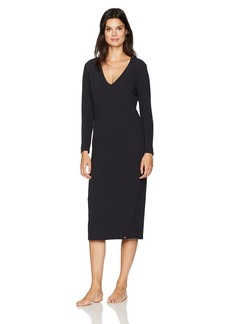 HANRO Women's Lelia Long Sleeve Midi Dress