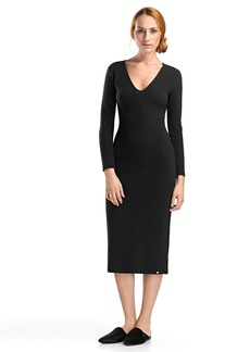 HANRO Women's Lelia Long Sleeve Midi Dress
