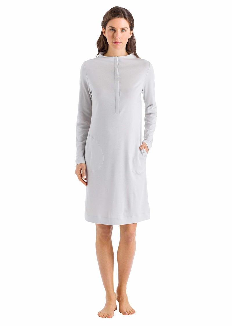 HANRO Women's Liara Long Sleeve Button Front Gown