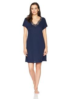 Hanro Women's Livia Short Sleeve Gown