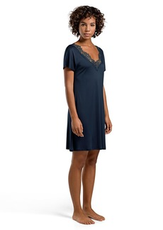 HANRO Women's Livia Short Sleeve Gown deep Midnight