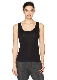 HANRO Women's Silk Cashmere Tank Top Sleepwear black