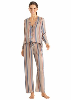 HANRO Women's Sleep and Lounge Woven Long Sleeve Shirt