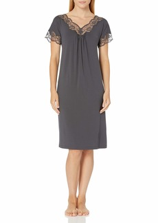 HANRO Women's Valencia Short Sleeve Gown 79563