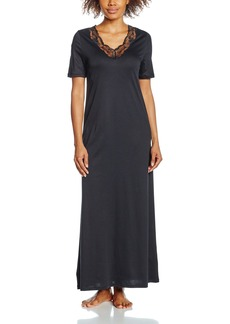 HANRO Women's Valencia Short Sleeve Long Gown