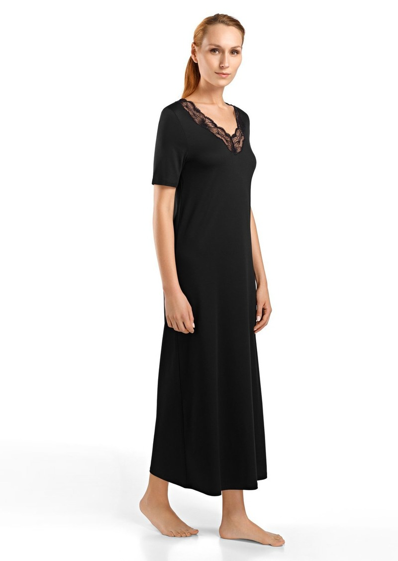 HANRO Women's Valencia Short Sleeve Long Gown