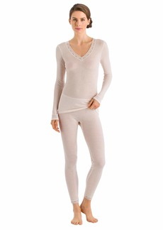 HANRO Women's Woolen Lace Long Sleeve Shirt