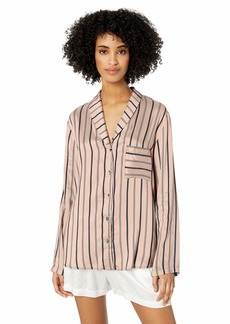 HANRO Women's Woven Long Sleeve Shirt 76494