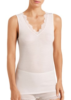 Hanro Wool & Silk Lace Tank Top