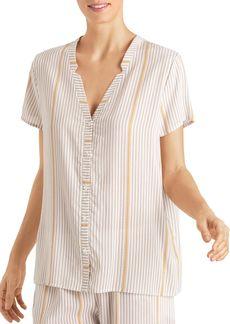 Hanro Woven Sleep & Lounge Short Sleeve Top