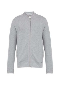 Hanro Zip-through cotton-blend track top