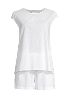 Hanro Kiah 2-Piece Embroidered Cotton Shorts Pajama Set