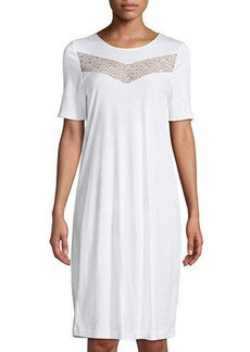 Hanro Liv Lace-Inset Short Nightgown