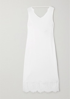 Hanro Makena Lace-trimmed Cotton-jersey Chemise