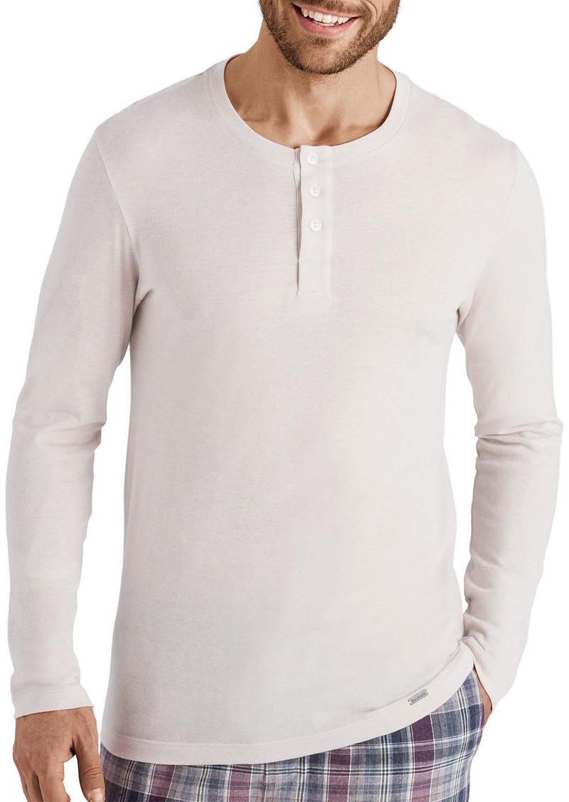 Hanro Men's Thilo Cotton-Cashmere Henley Shirt