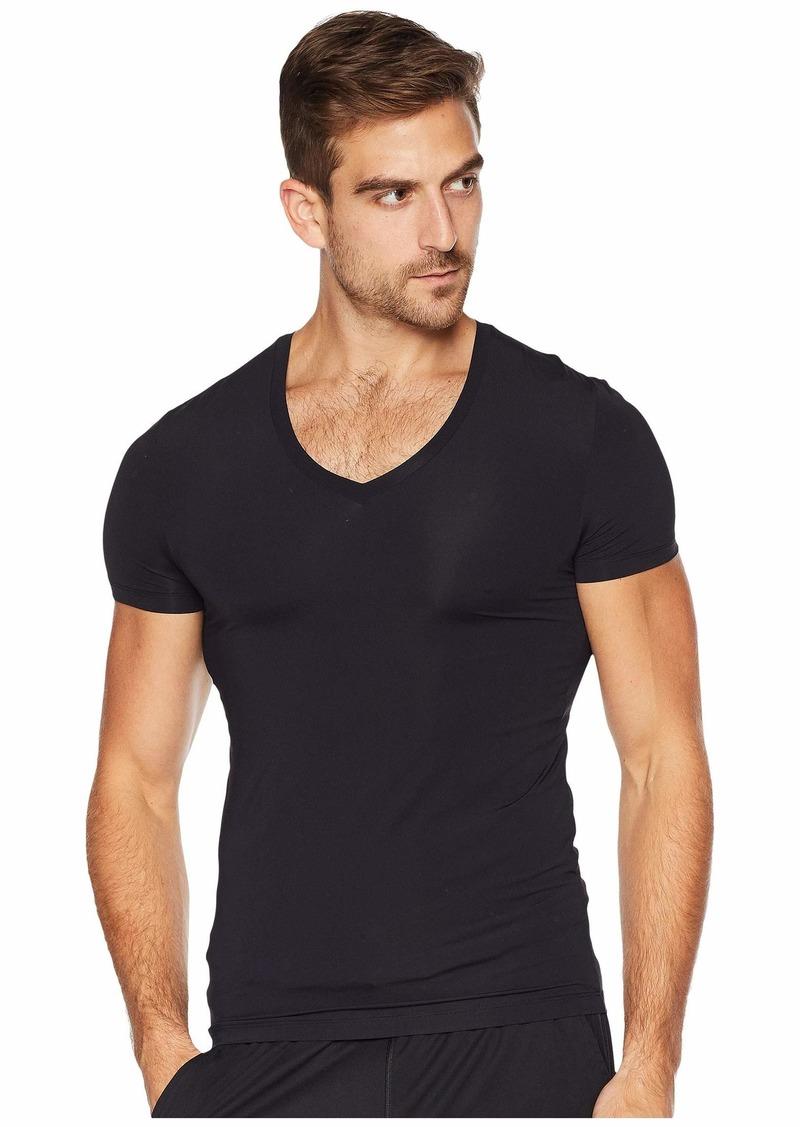 Hanro Micro Touch Short Sleeve V-Neck Shirt