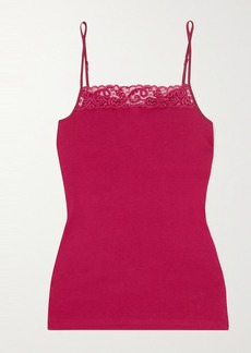 Hanro Moments Lace-trimmed Cotton-jersey Camisole
